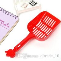 Wholesale 1000pcs CCA2473 New Arrival High Quality Poop Sand Scoop Sieve Pet Cat Plastic Litter Tray Scooper Shovel Plastic Litter Scoop Clean Tools