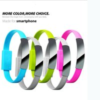 Wholesale 6 colors data line Portable wrist Bracelet Magnet sync charging Micro USB Cable power bank chargers USB cables for IP Android Sony Lg Huawei