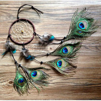 Wholesale 2015 New fashion gift Hot Indian peacock Dreamcatcher Wind Chimes Indian Style Peacock Pendant Dream Catcher Gift