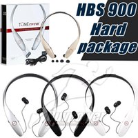 Wholesale HBS Wireless Bluetooth Headset Stereo Music HBS900 Headphone Sport Earphone Handsfree HBS For LG Iphone Not Original With Package