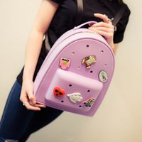 Wholesale Ladies backpack female bag Korean cartoon academy new tide silicone fashion Backpack Bag