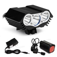 Wholesale Waterproof LED Bicycle Bike Light Headlight x CREE T6 Modes Lumen V mAh Rechargeable Battery Pack BLL_00B