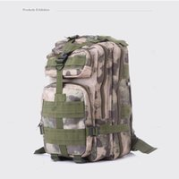Wholesale Outdoor Camo backpack army fan mountaineering hiking Pack P tactical double shoulder bag waterproof multi color duffel bags