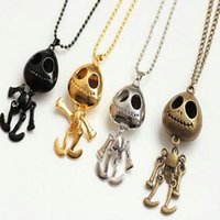 aliens gold necklace - 2016 New Style Pattern Vintage Pendant Necklace Jewelry Big Eyes UFO Alien Skull Head Pendants Long Sweater Chain Necklaces for Women