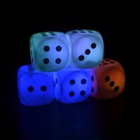 Colored Bulbs bars game - LED Dice Creative Colorful Square Dices Creative Toys Party Decoration Play Games Night Bars Parties Poker