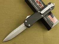 switchblade - Microtech Troodon Switchblade Damascus Blade HRC Steel handle Kinfe survival outdoor