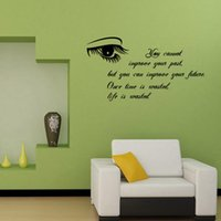 Wholesale high quality DIY English Proverb Fashion Living Room Background Wall Decor Bedroom Wall Stickers