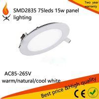 aluminium downlight - Flat aluminium thin Round Led Panel Light SMD2835 w w w w w W w LED Ceiling panel embeded recessed downlight