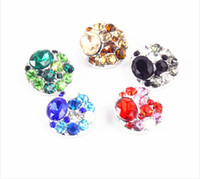bezel earring setting - 20mm Noosa Snap Button With Alloy diamond Charm Button Bracelets Diy Jewelry Accessories Button For Earrings Rings Bracelets Pendant