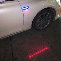 Wholesale 2x laser red blue amber dual LED Car Fender Side Indicators turn Signal lights