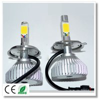 Wholesale High quality Dual beam Led brightest vehicle headlight replacement headlamp H4 HB2 W LM k Driving COB Bulb