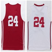 Basketball bh shipping - BH New Material Rev Basketball red white jersey Best quality Embroidery Logos Size S XXL