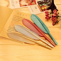 Wholesale X novelty Feather gel pen stationery writing pens canetas material escolar office school supplies papelaria
