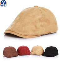 babies flat caps - Kids Children Baby Berets England Style All Seasons Fashion Flat Cap Baker Boy Peaked Newsboy Hat Drop Shipping MZ0003