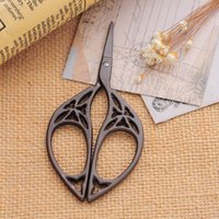 Wholesale Antique Titanium Zakka Sewing Scissors Vintage Stripe Hollow Fabric Sewing Supplies tesoura costura order lt no track