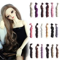 Wholesale 1pc cm DIY Dolls Hair Extension Curly Wigs Thick Handmade for BJD Doll