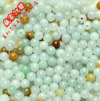Wholesale 5 mm Natural A Cargo three color Myanmar Jadeite beads Jade Burmese Jade Loose Beads Burmese Jade DIY accessories Free Shopping