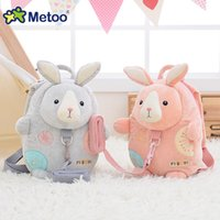 backpack safety children - Metoo jelly beans baby children rabbit backpack with safety harness cute little backpack kindergarten school bag