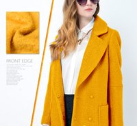 alpaca scarves - Yellow Alpaca wool fabric fabrics wool velvet White fabrics Fabric scarf dressmaking Scarves Skirt materials Coat Skirt Clothes yards H455