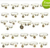 bead set band - 26 letter Alex and Ani adjustable Charm statement bracelets gold silver Wiring expandable pendant bangles band cuffs Christmas gift free shi