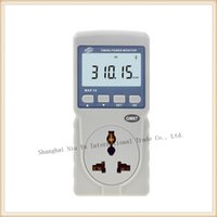 Wholesale New Portable LCD display Power meter Digital Power analyzer Range W Max A Retail packing