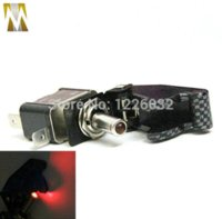 Wholesale LED Light With Military Carbon Cover V Toggle Ignition Starter Switch Motorcycle Switches