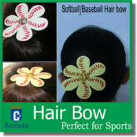 Wholesale Softball Baseball Hair Bows Team Order Bulk Listing REAL BALL You Choose Colors