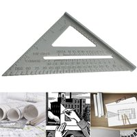 Wholesale inch New Aluminium Alloy Square Measuring Tool Use As Protractor Miter Framing Square