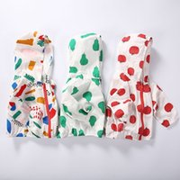Wholesale Kids Ins UV Protection Clothing Pullover Beach Sun Protection Clothing Fashion Sunblock Clothing Ins Beach Suit Beach Wear Hoodies