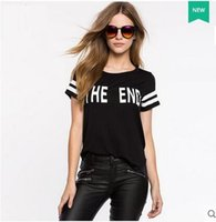 alphanumeric shirt - The new summer Europe and the United States street crashed alphanumeric printing color Before the eldest daughter after short T shirt