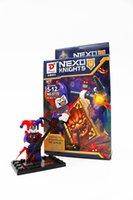 Wholesale 6pcs set New Nexo Knights The Future Knight Castle Warrior Building Blocks Minifigure Bricks Kids Gift Without Box