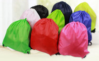 Wholesale Bunch of pocket Oxford cloth Backpack bag Drawstring backpack Pure color polyester D Oxford cloth Convenient and beautiful bag