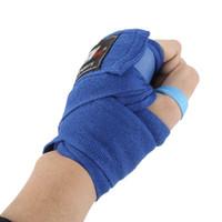 Wholesale 1set Roll Width cm Length M Cotton Sports Strap Boxing Sanda Muay Thai MMA Taekwondo Bandage Hand Wraps