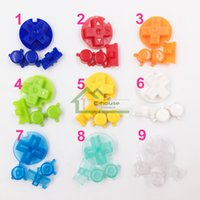 Wholesale Colorful Buttons Sest for GBP Replacement High Quality Plastic ON OFF Button AB Buttons for Gameboy Pocket Gamepads