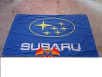 automobile banners - subaru Automobile Exhibition flag car brand logo banner X150CM size polyster