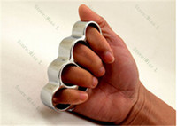 Wholesale 20pcs gold and silver Knuckle duster belt buckle THICK CHROMED KIRSITE BRASS KNUCKLES DUSTERS Boxing Protective Gear DHL