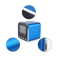 Wholesale Portable Bluetooth speaker Mini USB Music Speaker for Laptop and Mobile Phone Mobile devices Music Angel JH MD08 Blue