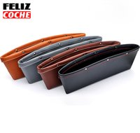 Wholesale FELIZCOCHE Leather Car Storage Bag Box Seat Pocket Catch Caddy Catcher Organizer Space Save Store Car Seat Stowing Tidying A3201
