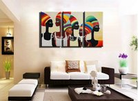 african lady photo - African lady sexy photo piece decorative abstract hand painted wall art oil painting on canvas wall decor living room pictures