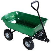 Wholesale 650LB Garden Dump Cart Dumper Wagon Carrier Wheel Barrow Air Tires Heavy Duty
