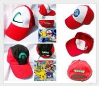 Wholesale 4 style Poke Ash Ketchum Trainer Hat Cosplay Costume Cap Adult Mesh Hat Trucker hat caps baseball hat