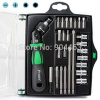 Wholesale Original SD M In Reversible Ratchet Magnetic Screwdriver W Bits Sockets Set T15 T20 Slotted Phillips