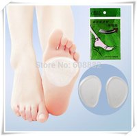 Wholesale 2pcs pair feet care women high stiletto heel protector Transparent silicone insole relieve pain high heels protector