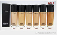 Wholesale SPF Liquid Foundation Natural Sun Protection Long Wear Face Concealer Cosmetics Foundation Makeup Foundation DHL Free shopping