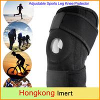 Wholesale Adjustable Elastic Neoprene Sports Leg Knee Support Brace Wrap Protector Knee Pads Kneepads Sleeve Cap Patella Guard Black