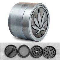 Wholesale Metal Stainless Steel Coin Shape Pattern Herbal Herb Tobacco Grinder Smoke Cigar Magnetic
