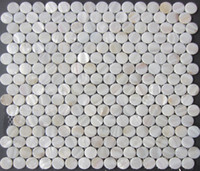 Wholesale white mother of pearl tiles for wall mosaic tiles circular mosaic white shell mosaic bathroom wall tiles