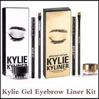 Wholesale Kylie Gel Eyebrow Liner Kit Kylie Jenner Lip Kit In LEO Limited Birthday Edition CONFIRMED Matte Lipstick kylie liquid eyeliner