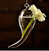 bamboo symbols - 2pcs simple creative hanging Symbol Country style transparent glass vase flower hydroponic