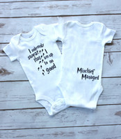 Wholesale Cheap Infant Rompers - 2017 infant baby rompers white color letters print cotton newborn outfits children clothing set fast free shipping cheap price